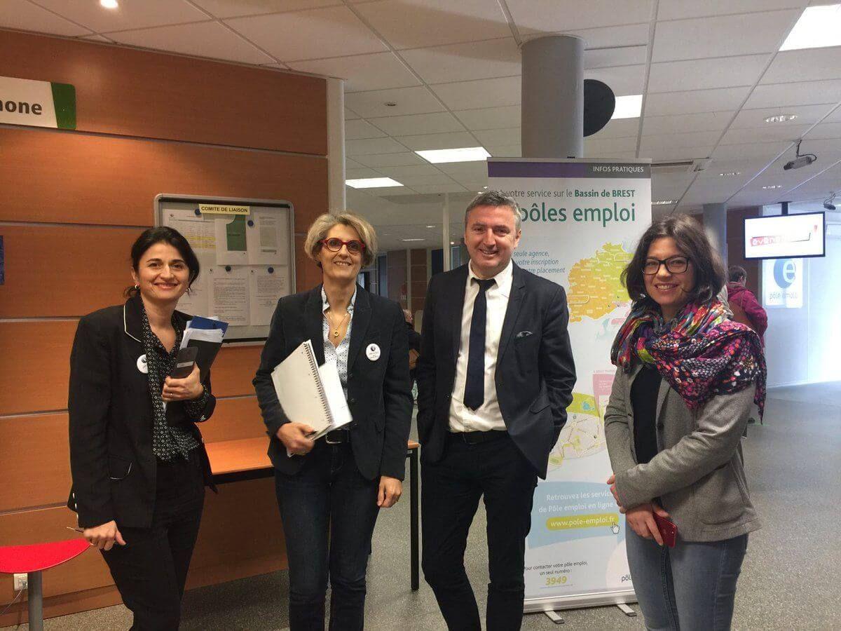 Pôle-Emploi : Visite de l'agence Brest Iroise
