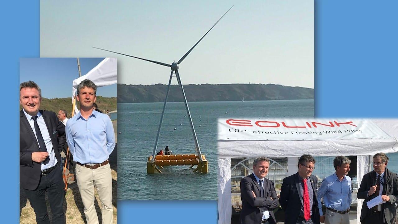 Inauguration du démonstrateur d'EOLINK : Une éolienne flottante innovante.