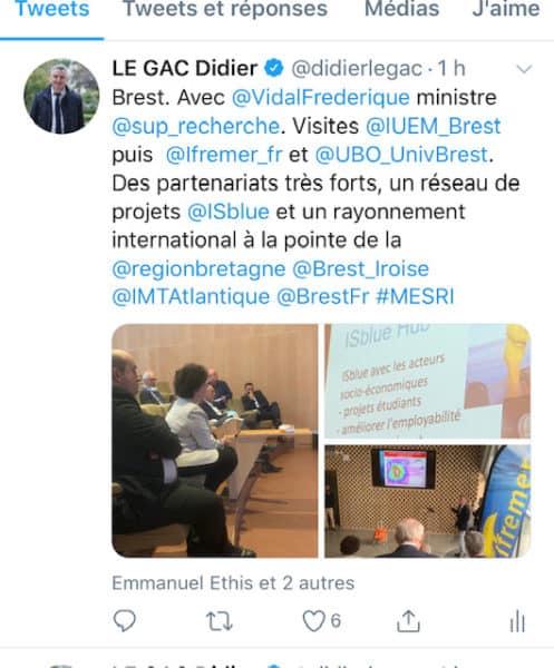 Frédérique Vidal à Brest le 4 juin 2020 ISblue