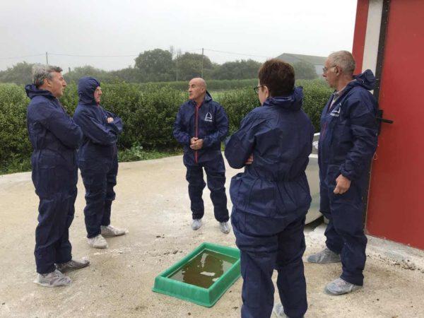Déplacement à Plouarzel au sein d'un élevage de volaille